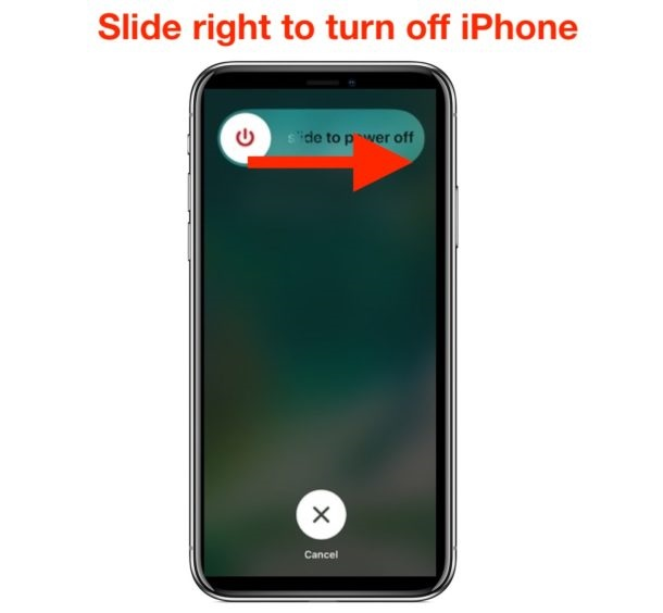 How to turn off the iPhone X, XR, XS, and XS Max?