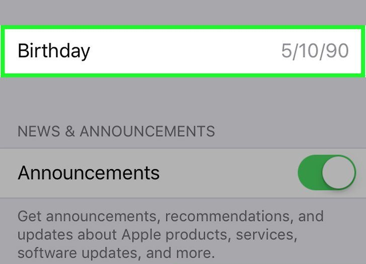 Apple ID: How to Change the Date of your Birthday