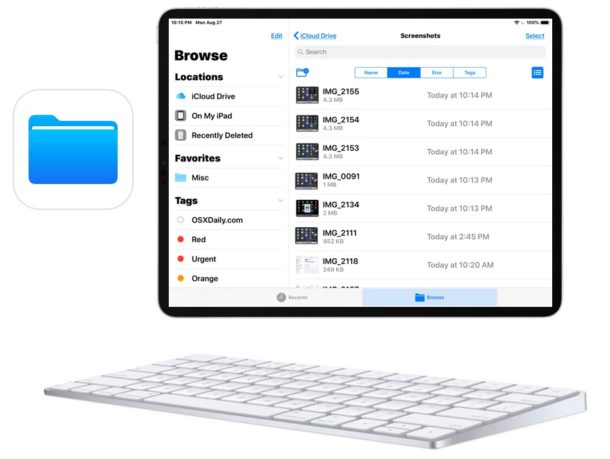 14 Keyboard Shortcuts for iPad File Application