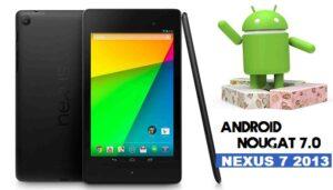 Android 7.0 Nougat on Nexus 7