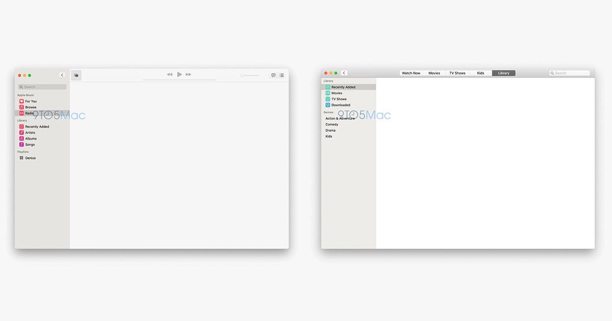 TV apps of macOS 10.15