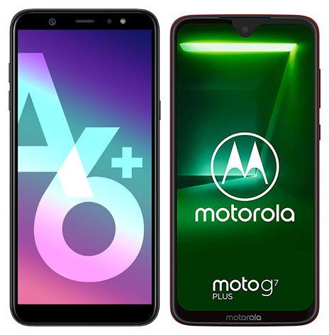 Moto G7 vs Galaxy A6 Plus: Compare Prices and Technical Data Mobile Phones
