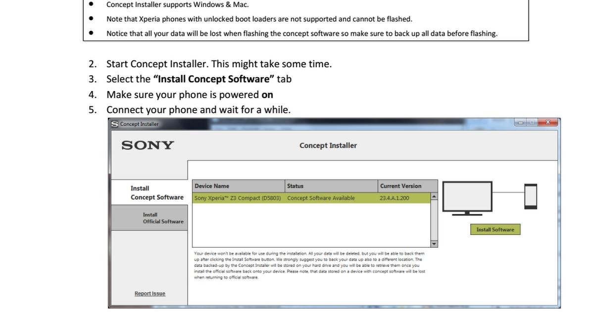 Sony Concept Installer
