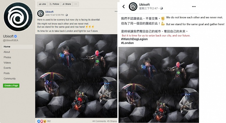 Ubisoft Apologizes for a Watch Dogs Legion promo in China