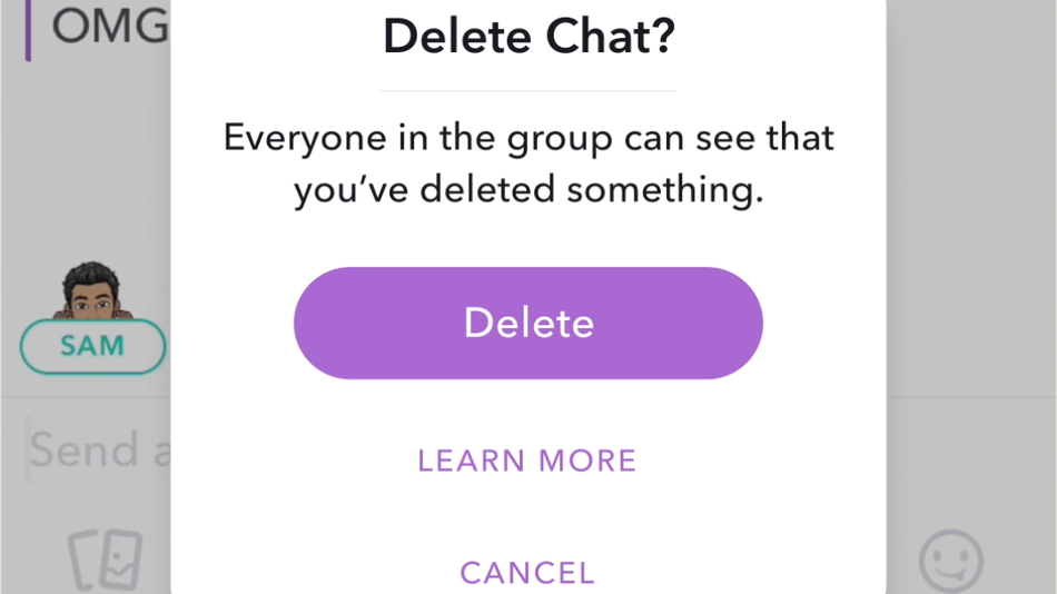 Delete A Sent Message On Snapchat
