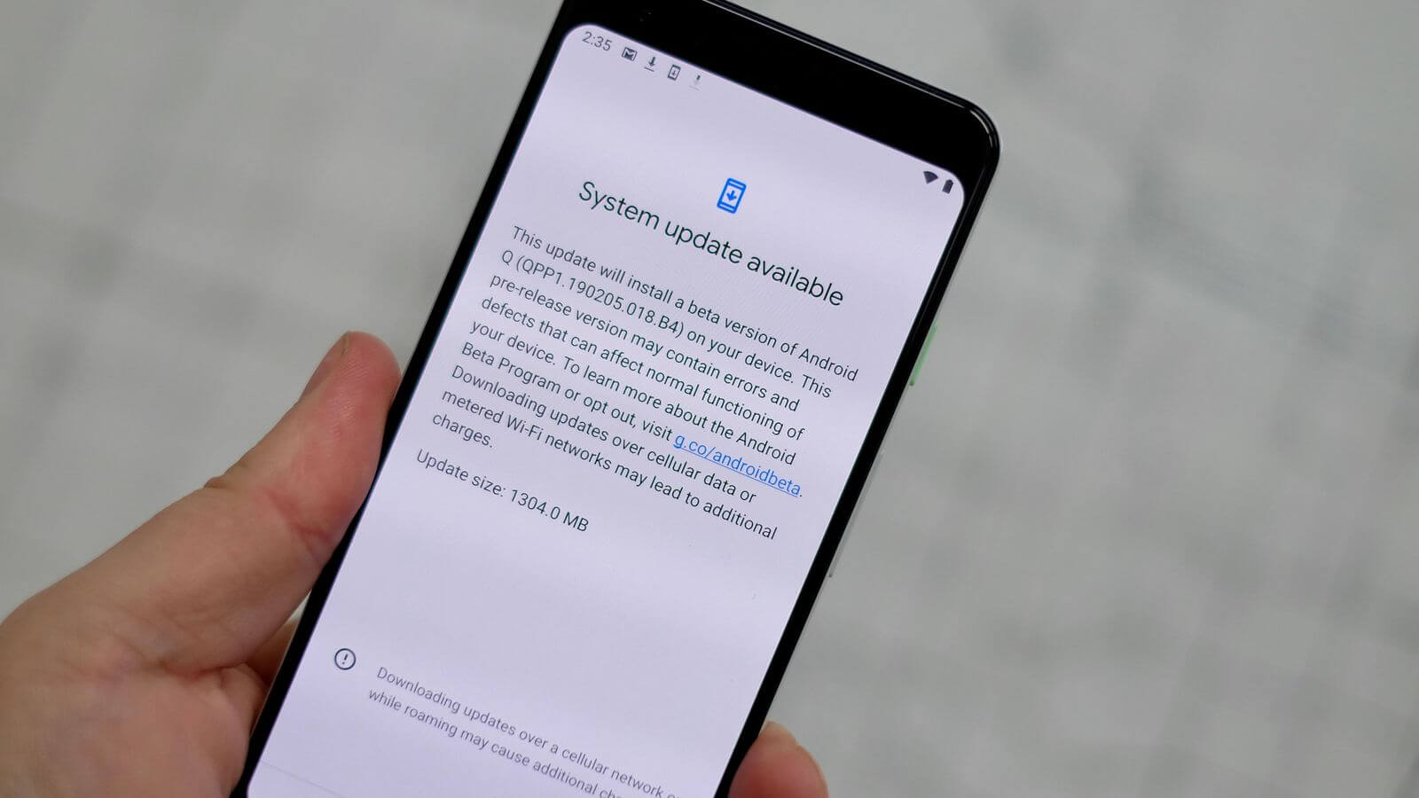 Pause Downloading System Updates On Android