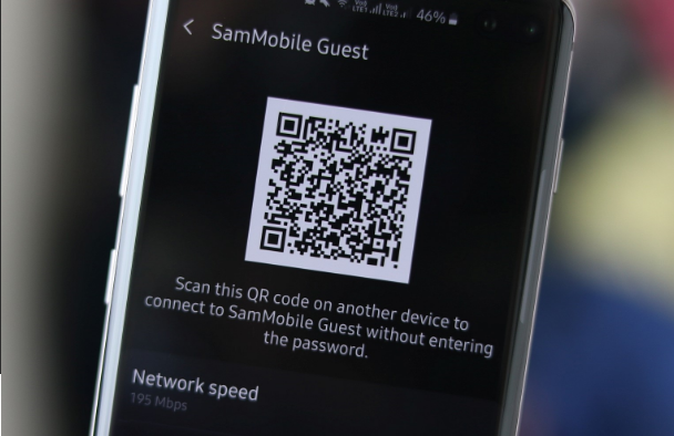 Wi-Fi networks using QR code