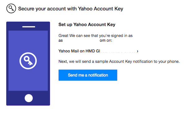 Activate Yahoo Account Key