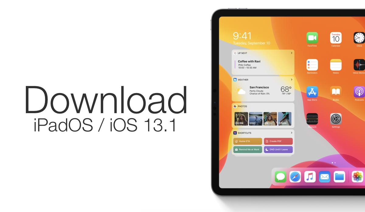 iOS 13.1, iPadOS