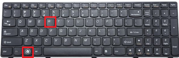 press the Windows logo key + R