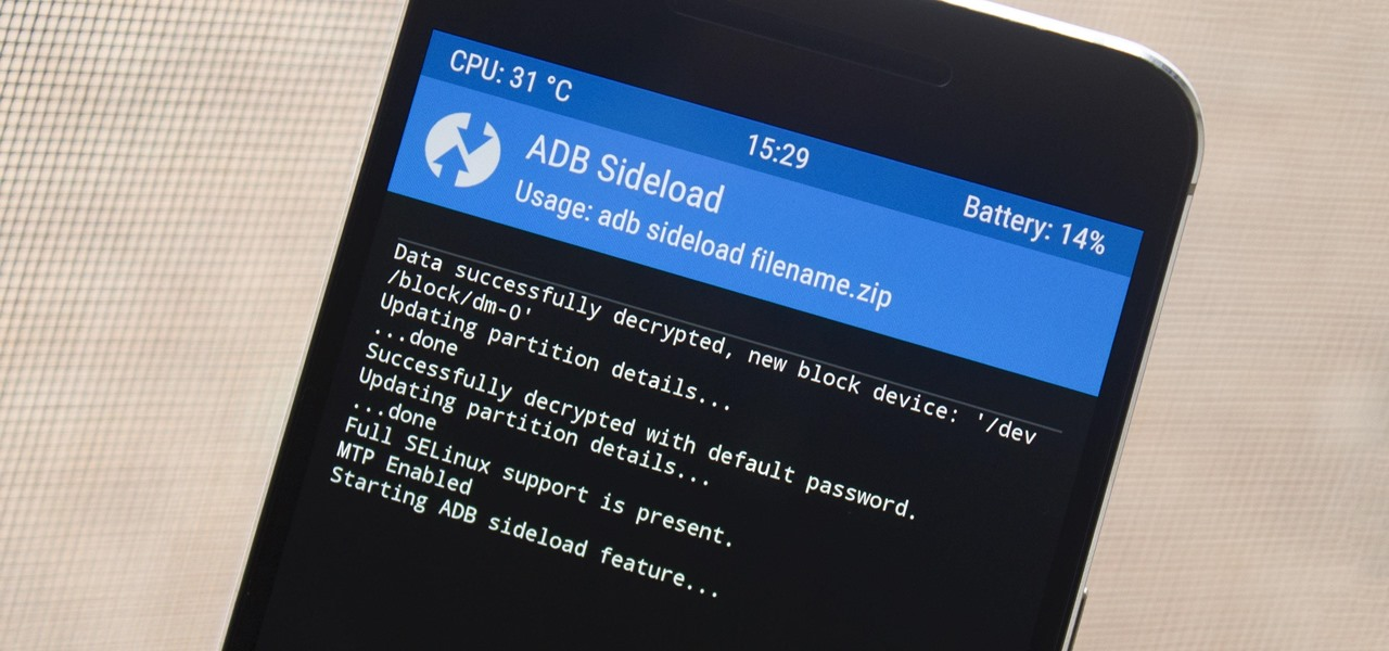 How to Sideload ROMs and Mods Using ADB Sideload