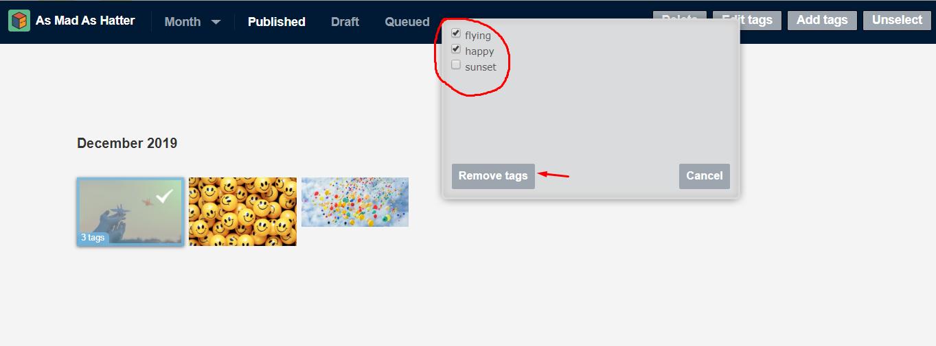 remove tags