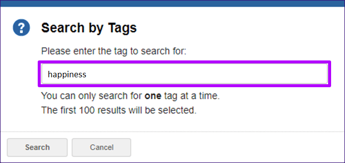 searching by tags