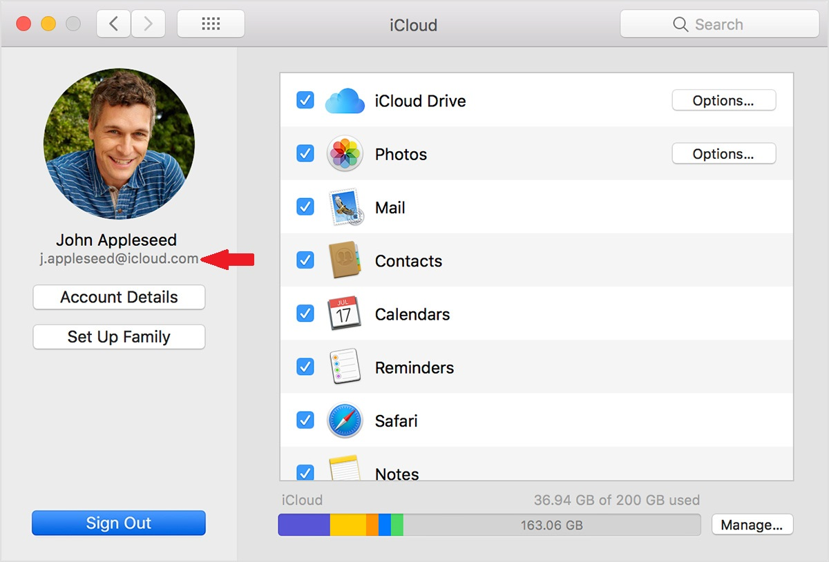 Check Apple ID — macOS