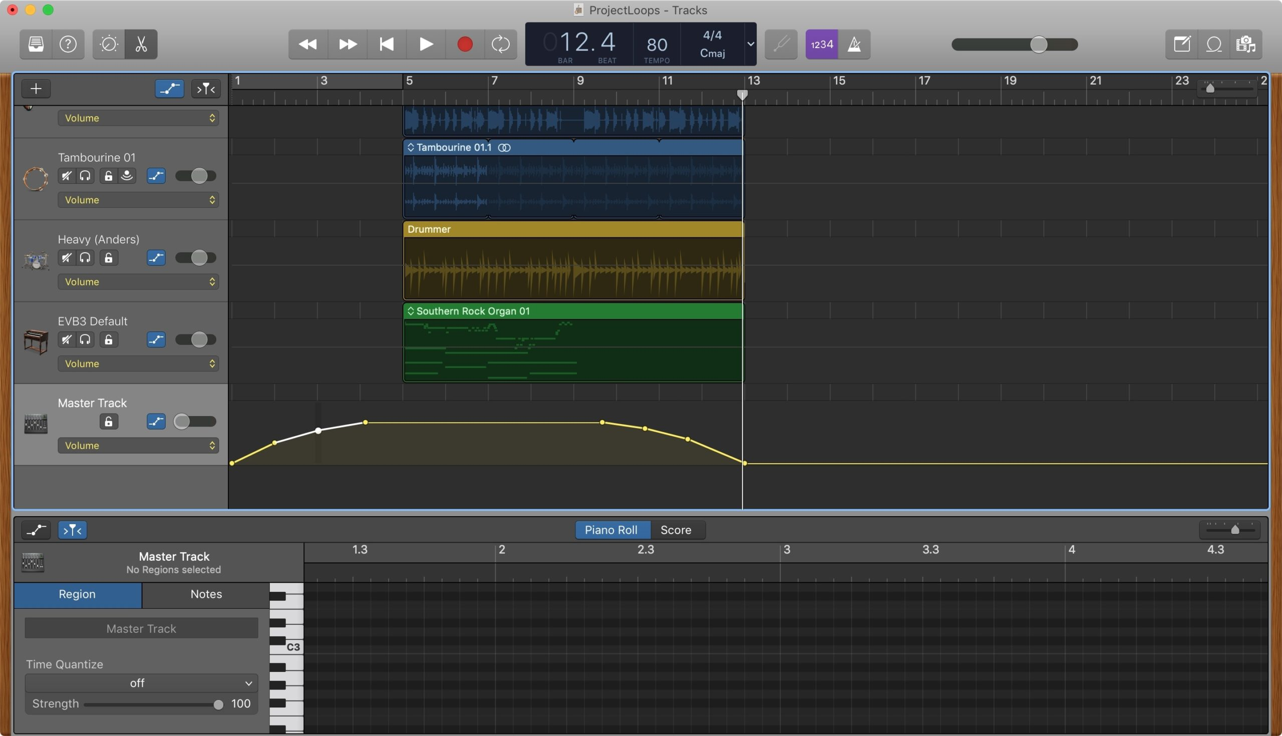 Fade Out in Garageband