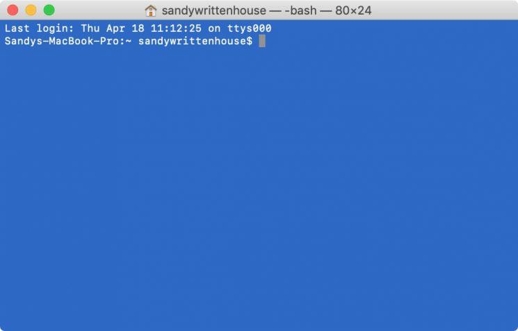 terminal shortcut mac