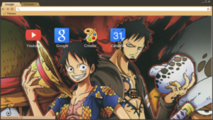 One Piece Monkey D. Luffy google chrome theme