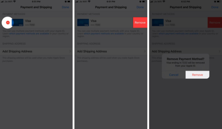 Remove Apple ID Payment