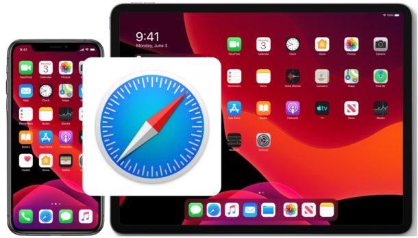 clear cache in Safari on iPad