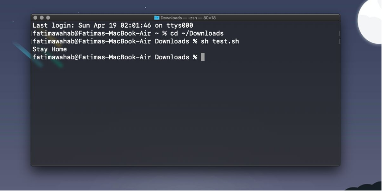 Execute a Shell or .sh script on macOS