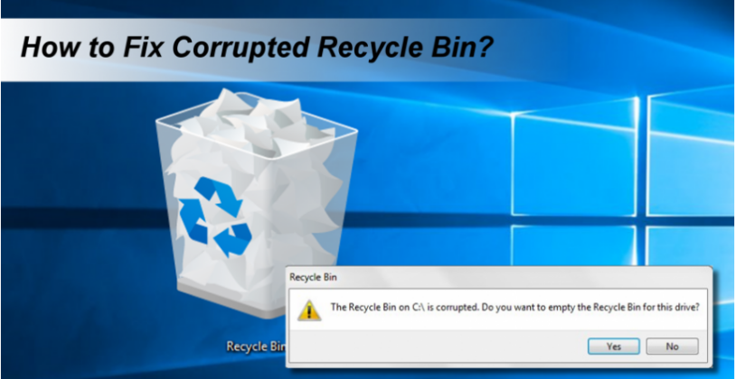 Fix Corrupted Recycle Bin Message