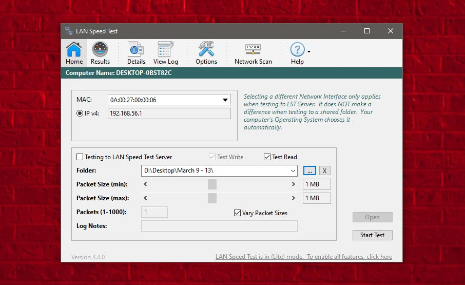 find the LAN Speed on Windows 10