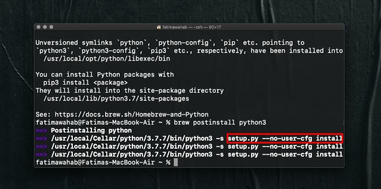 Python 3 Installation On macOS