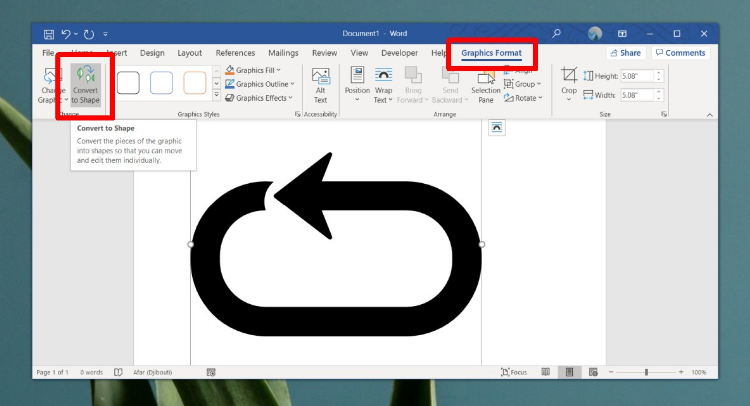 Add Custom Shape To Microsoft Word 365