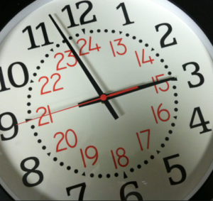 Change to a 12-hour Clock