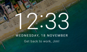 Lock Screen Message in Android