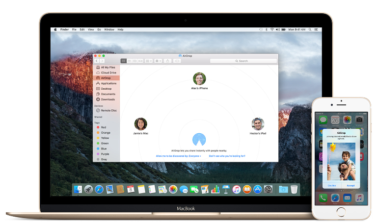 Enable & Use AirDrop From iPhone To Mac