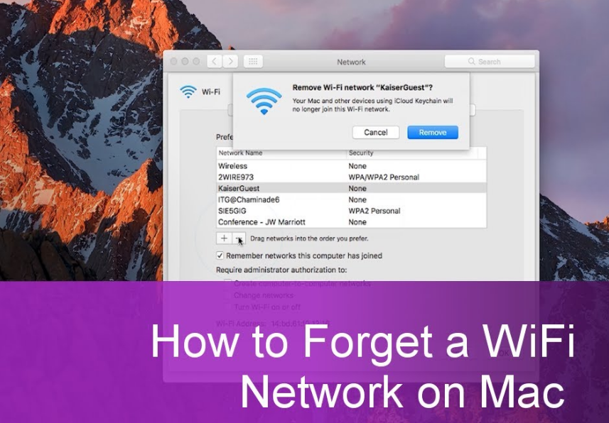Forget Wifi Network On Mac