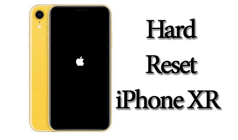Hard Reset iPhone XR