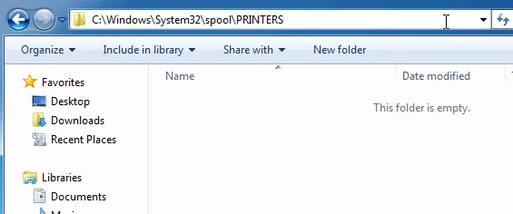 clear print spooler