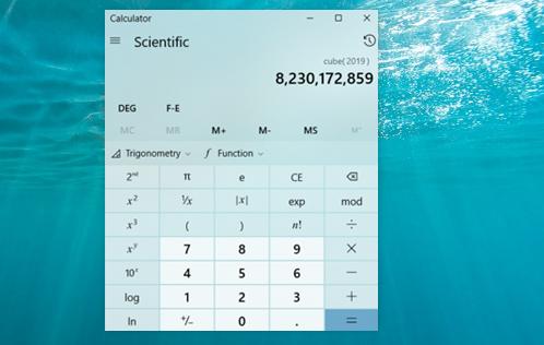 switch to scientific calculator