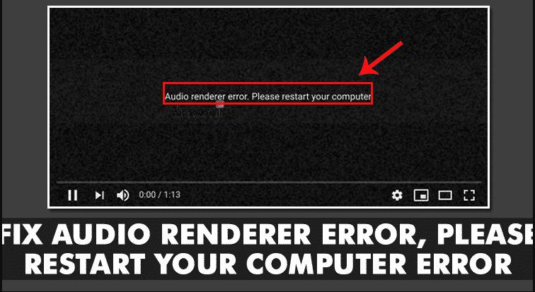 Fix Audio Renderer Error