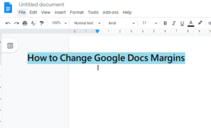 How To Modify Margins In Google Docs