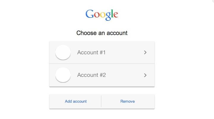 Modify Default Google Account