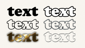 Outline Text in Adobe Photoshop