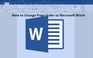 Rearrange Pages in Microsoft Word