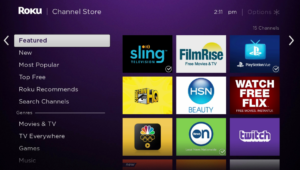 Roku Web Browser in the Channel Store