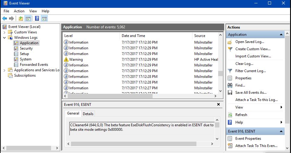 WIPE Event Log in Windows 10