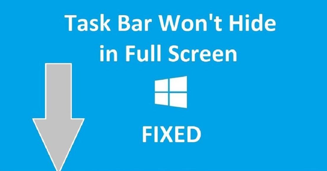 Windows Taskbar Not Hiding