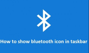 bluetooth taskbar icon