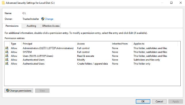windows 10 reset permissions