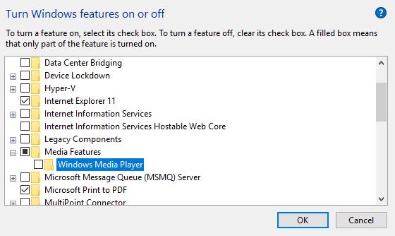 windows media player not working