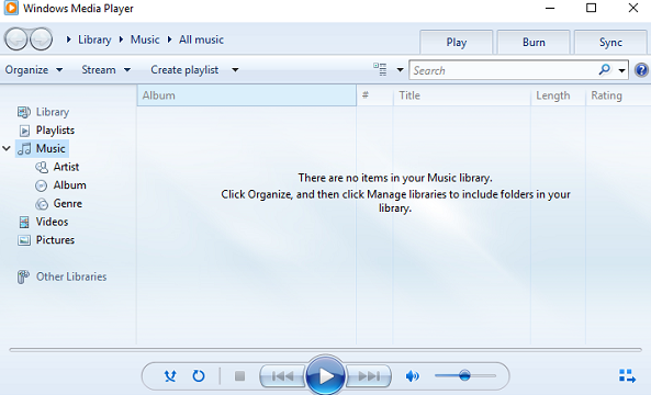 windows media player not working
