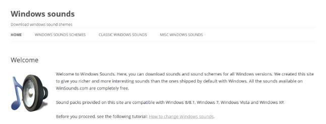 windows sound schemes