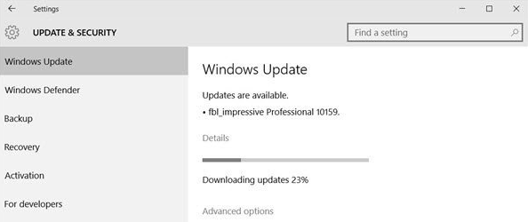 windows update pending install