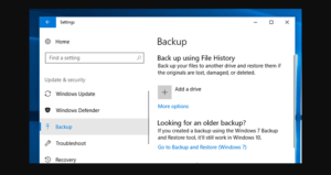 Backup Previous Versions Of Files On Windows 10